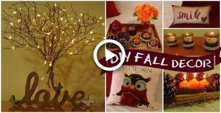 DIY easy fall room decor I Easy room decor ideas I diy home decorations images
