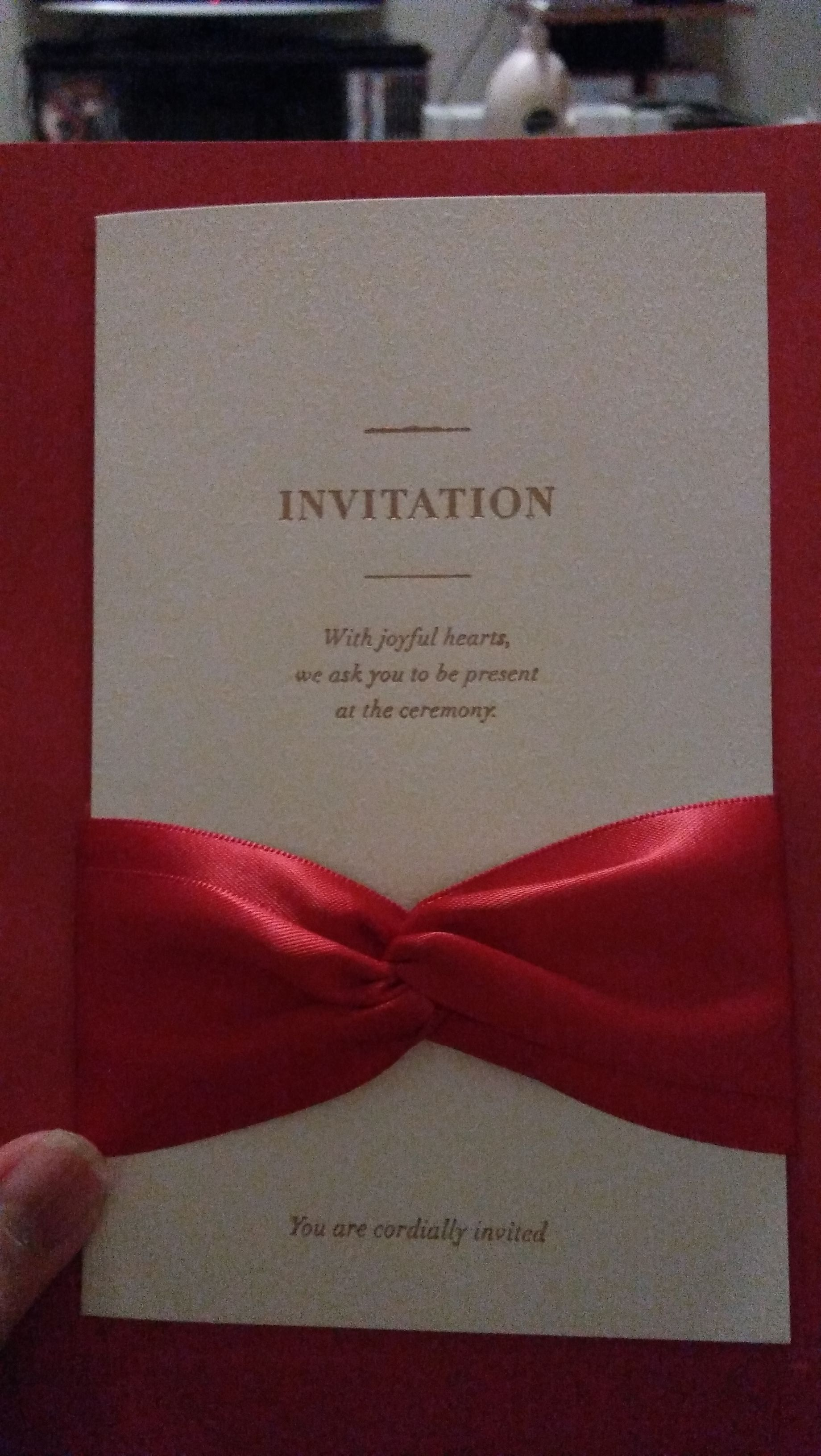 Classic Style Wrap & Pocket Invitation Cards With Ribbons (Set of 50 ...