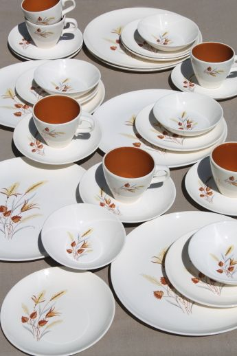 Taylor Smith Taylor Autumn Harvest vintage dinnerware set for TS\u0026T china dishes & real dinnerware probably mismatched from a thrift store cause I ...