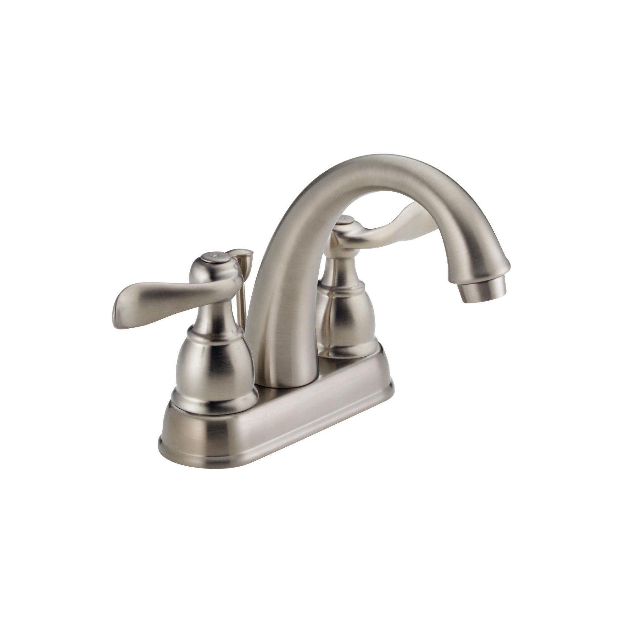 Delta Faucet B2596lf Windemere Centerset Bathroom Faucet With Pop Up Drain Assembly Brilliance Stainless Delta Faucets Bathroom Faucets Faucet