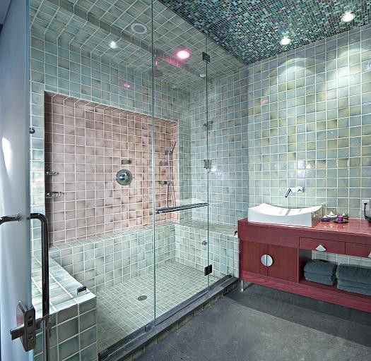 French Shower Doors Mount A Swing Door On Each Wall To Open Up