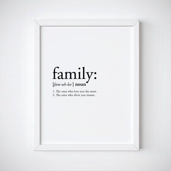 Familiendefinition Familiendruckdefinitionsdruck Lustig