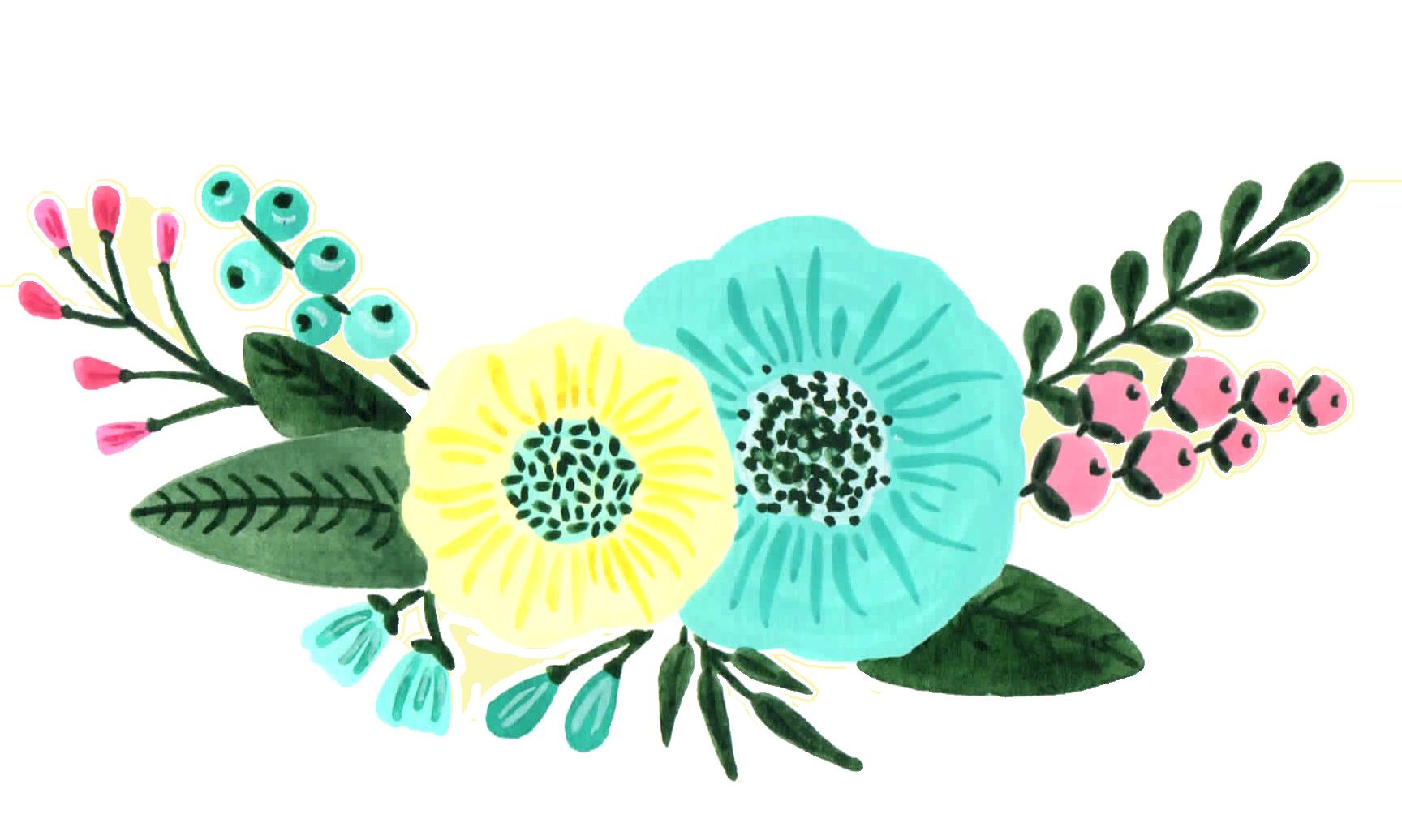 Mint Green And Turquoise Floral Custom Design Watercolor Design Custom Design Creative Market