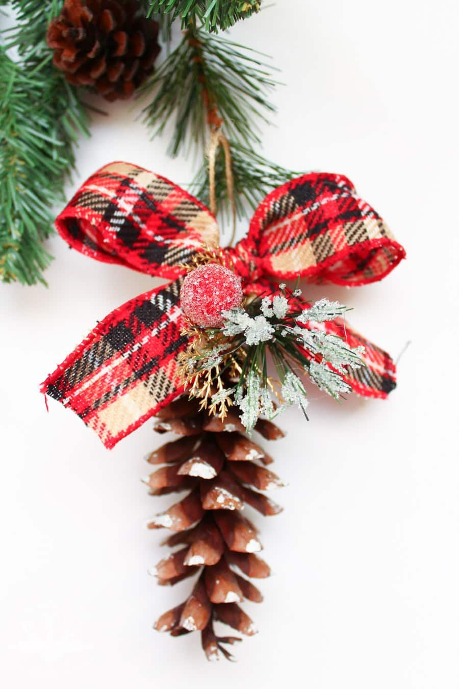 Diy Pine Cone Ornaments Pinecone Ornaments Handmade Christmas Ornaments Rustic Ornaments