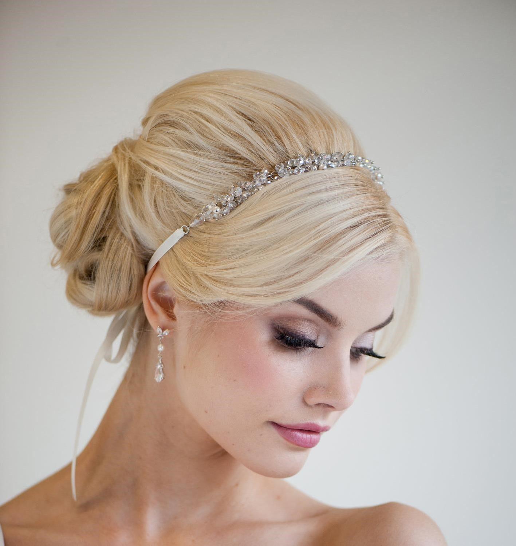 wedding hair updo with headband