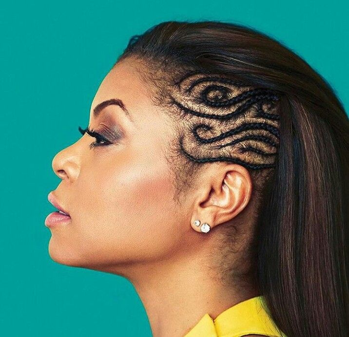Cornrows On The Side Of A Beautiful Weave Edgy And Elegant Natural Hair Styles Long Hair Styles Curly Hair Styles