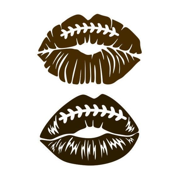 Football Lips Cuttable Design PNG DXF SVG & eps Fi