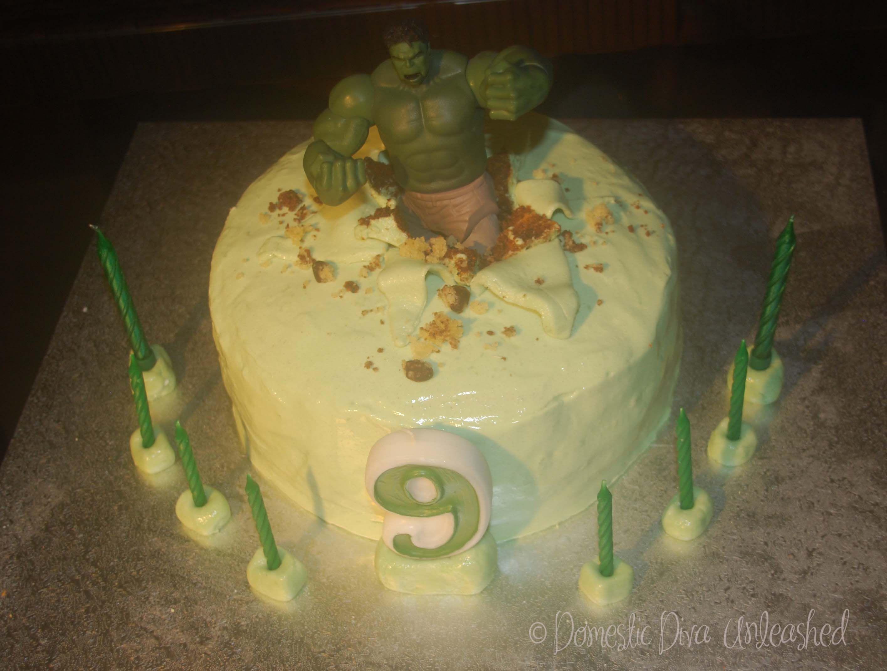 Domestic Diva Hulk Birthday Cake Fte Hulk 5 ans Pinterest