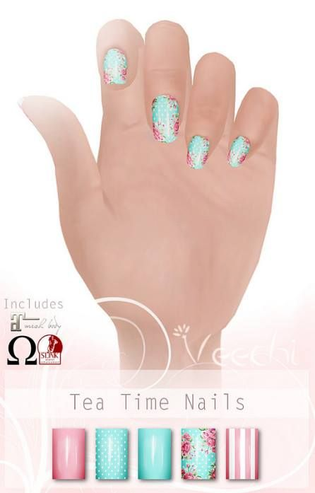 Veechi Tea Time Nails Second Life Free Group Gifts. The tea time ...