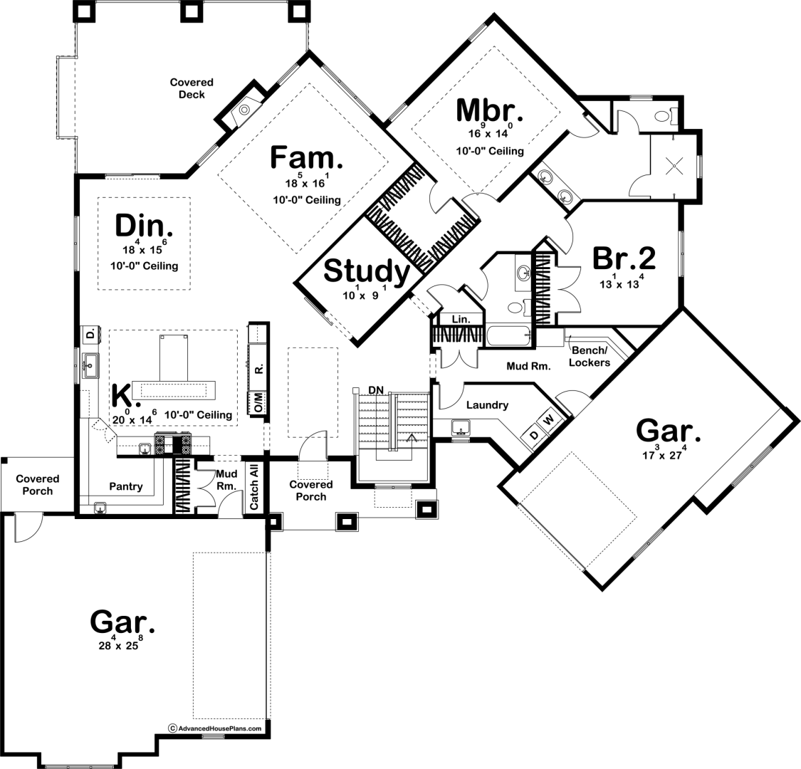 Birkdale 1 Story Modern Farmhouse House Plan (With images