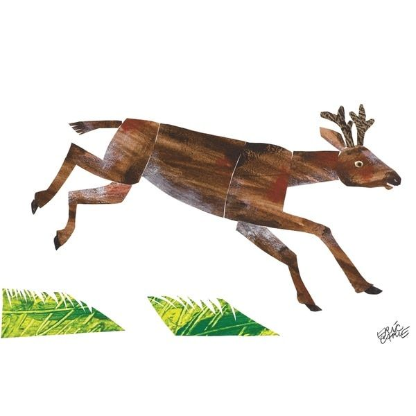 Baby Bear Character Art Mule Deer Canvas Print by Eric Carle ...