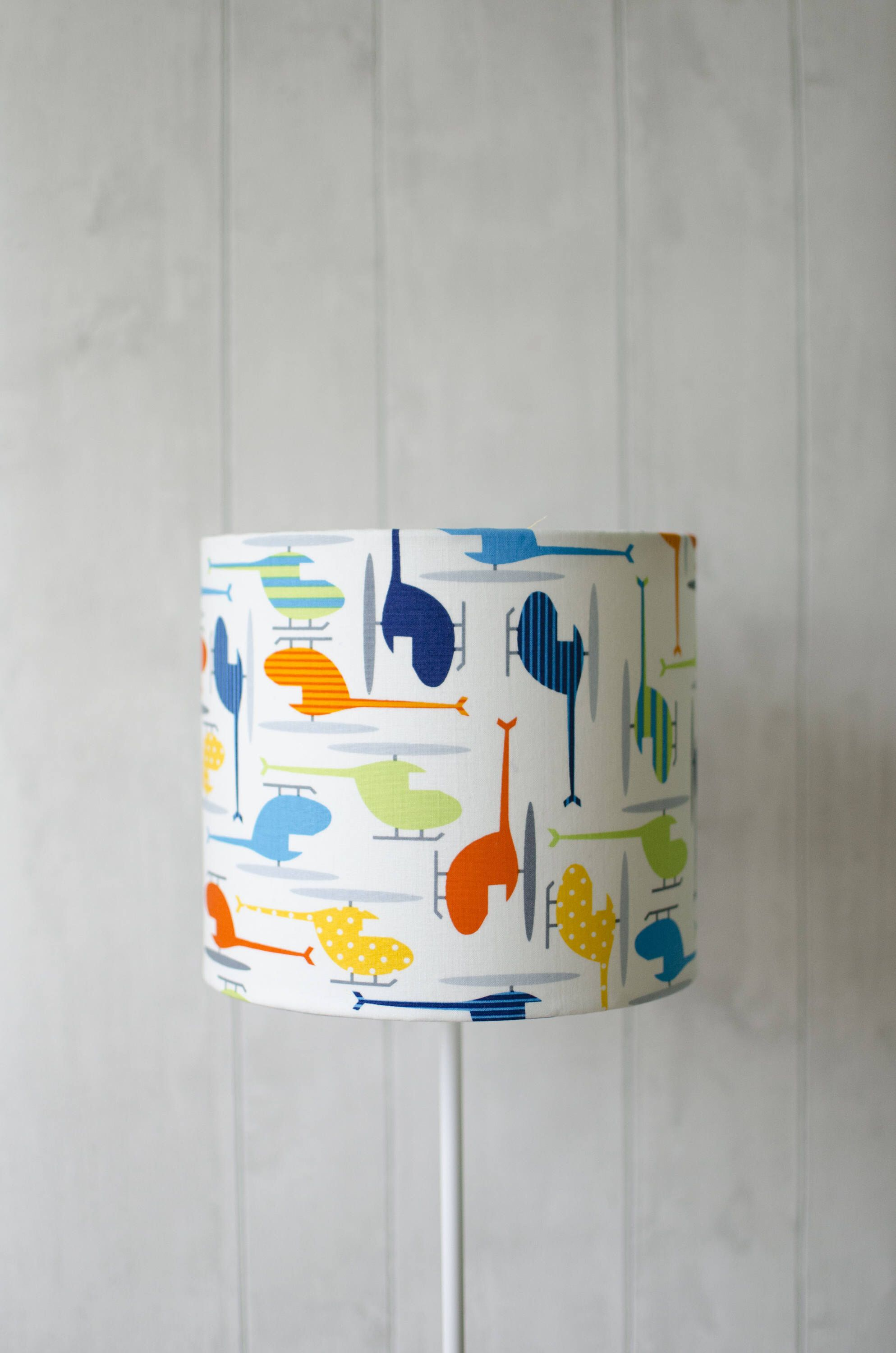 Transport Nursery Vehicle Lampshade Helicopter Table Lamp
