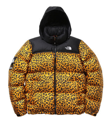 cazadora north face leopard