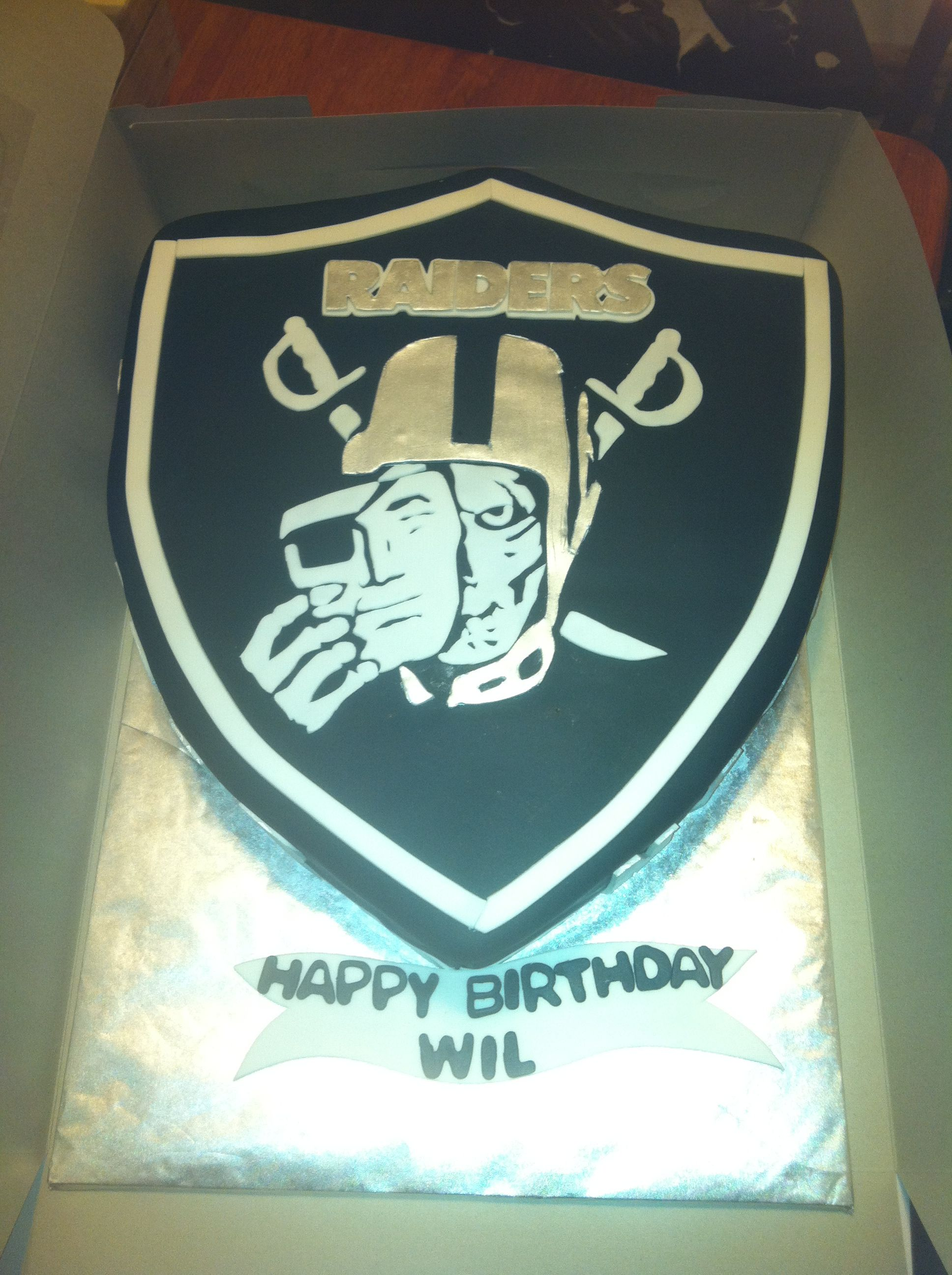 Oakland Raiders Cake For My Brother
