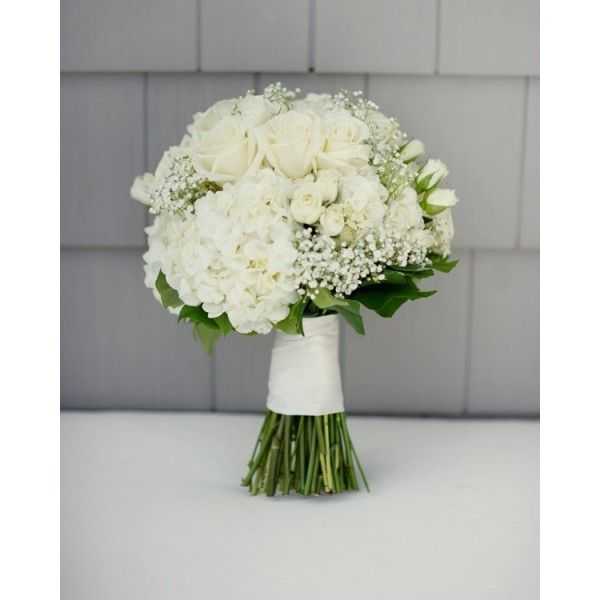White rose spray rose hydrangea baby 39 s breath brides for Flower sprays for weddings