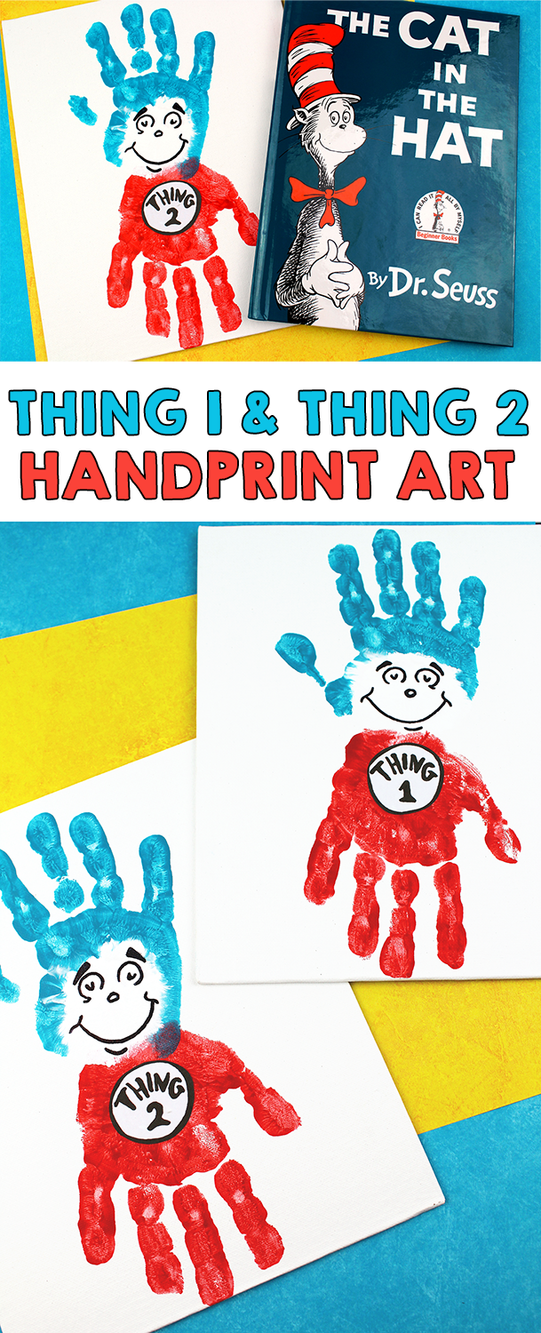 Photo of Dr. Seuss Thing 1 and Thing 2 Handprint Craft For Kids – I Heart Arts n Crafts