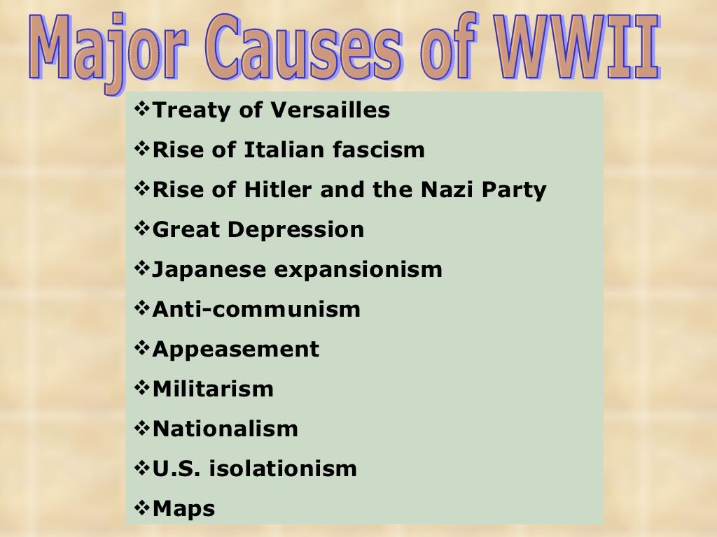 Major Causes Wwii Slide Show