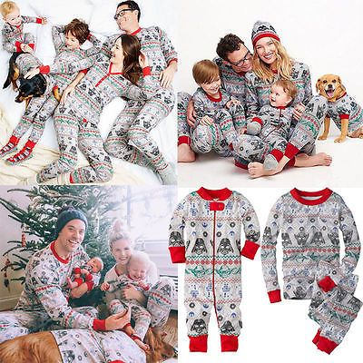 women kids star wars christmas family pajamas set sleepwear nightwear pyjamas - Star Wars Christmas Pajamas