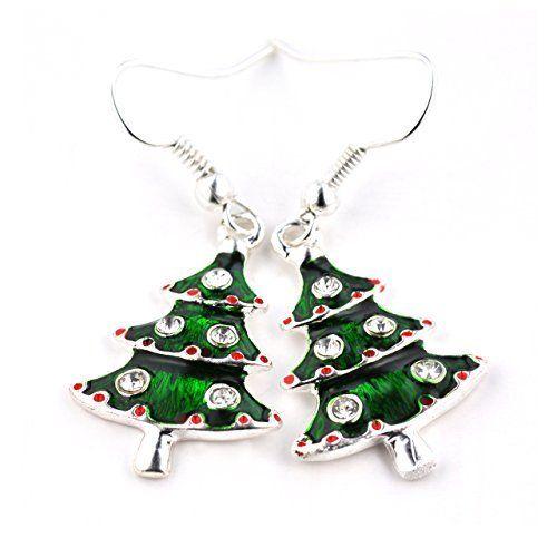 "SCHMUCKZUCKER Ohrhänger ""Weihnachtsbaum"" Modeschmuck silberfarben Glitzer grün, http://www.amazon.de/dp/B015NH7PZC/ref=cm_sw_r_pi_awdl_wNgawb0HFWTWF"