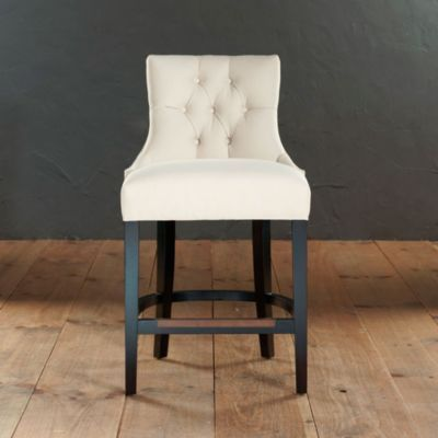 This Style In Slate Leather Gentry Counter Stool