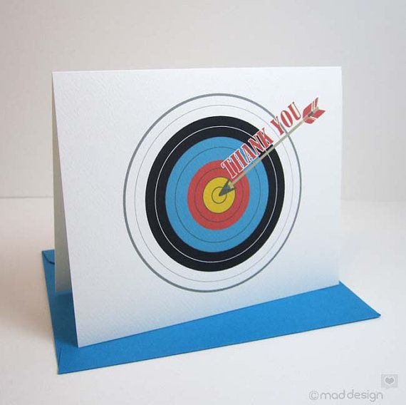 Thank You Card / Archery Target Did Someone Give You A