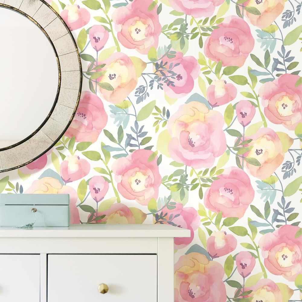 NuWallpaper Peachy Keen Pink Peel and Stick Wallpaper