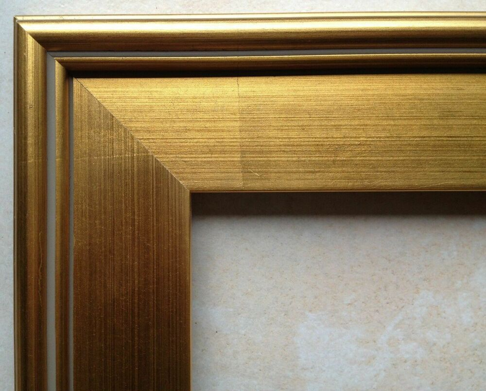 """Wood Frame 14x18"""" Plein Air Gold Leaf for Painting Photo"""