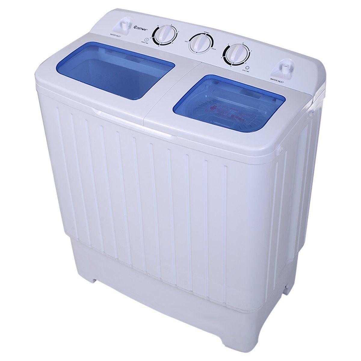 Giantex Portable Mini Compact Twin Tub 11lb Washing Machine Washer ...