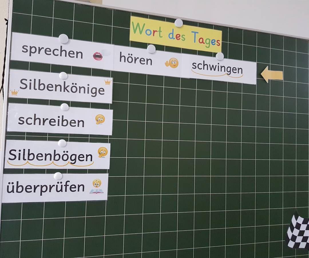 Das Wort Des Tages Markiert Den Täglichen Beginn Der Deutschstunde