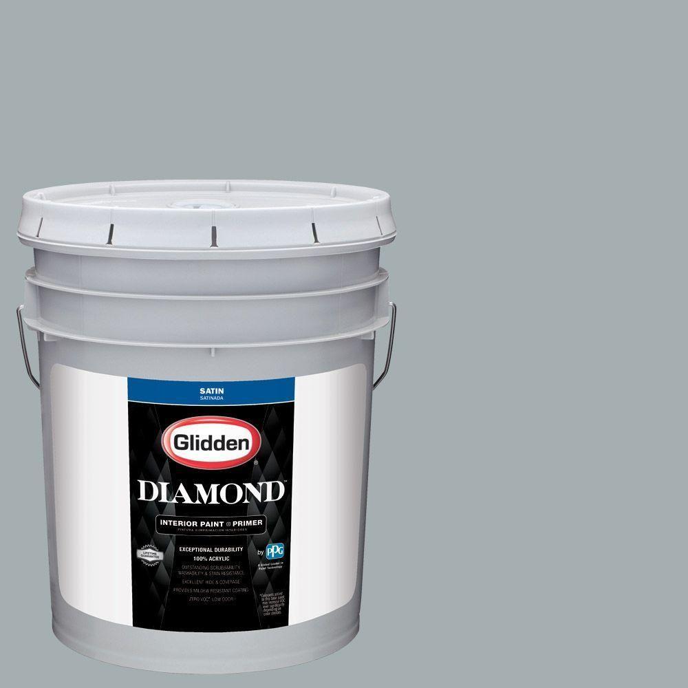 Glidden Diamond 5 gal. #HDGCN27 Shaded Brook Satin Interior Paint with Primer