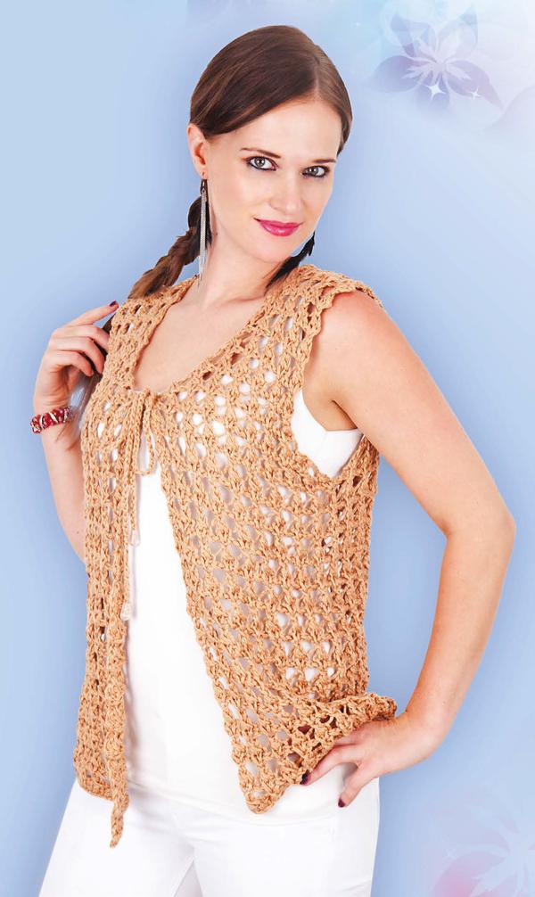 Cómo tejer un Chaleco Abierto en color Oro? | Como hacer chalecos ...