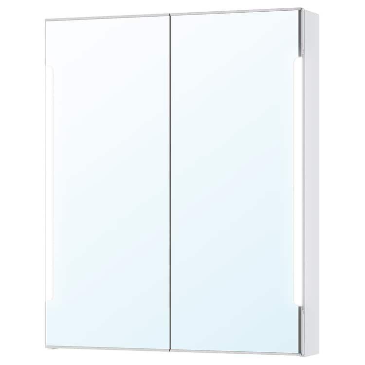 Storjorm Spiegelschrank M 2 Turen Int Bel Weiss Ikea Osterreich Spiegelschrank Badspiegel Beleuchtet Kleines Bad Dekorieren