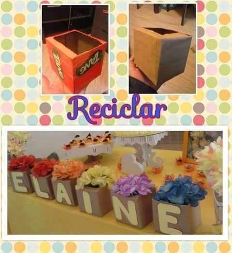 DIY - arranjo de flores #reciclando
