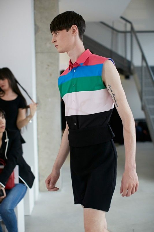 Raf Simons Menswear SS14 | Dazed I want this top. Anyone know we're to get from let me know