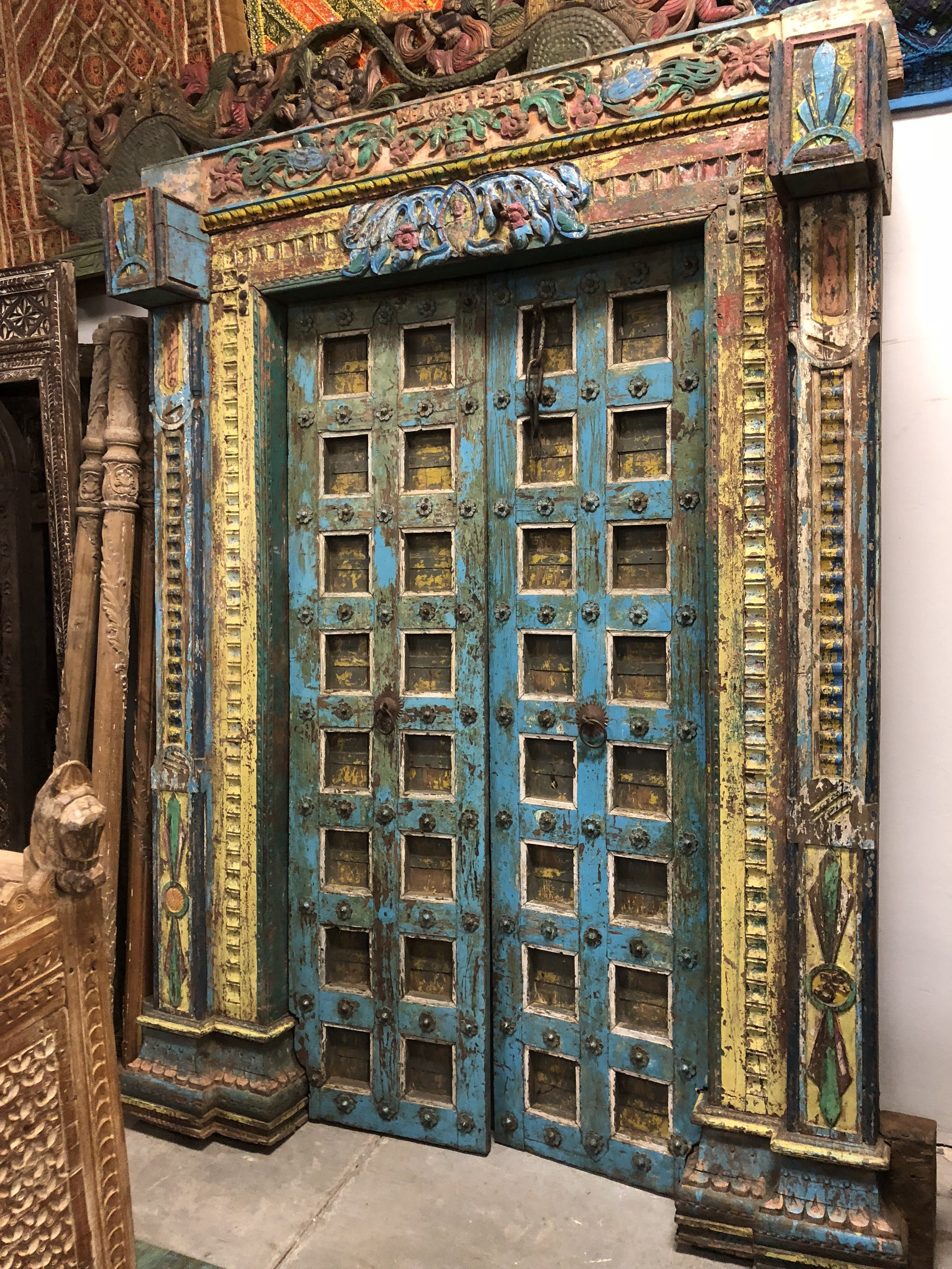 Beautiful romantic Indian doors yet earthing with the Om
