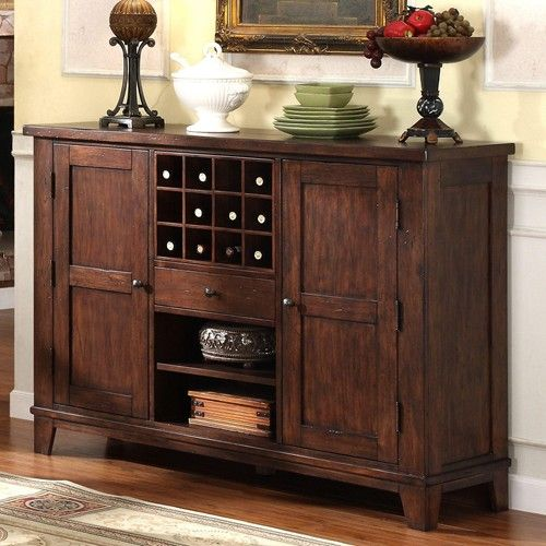 Kitchen Art Lafayette: Castlewood Dining Server Style Buffet With Wine Storage By