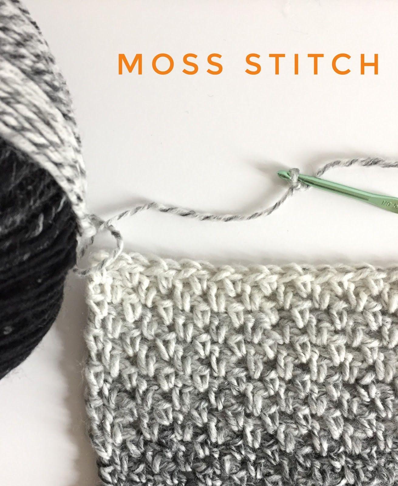 Moss Stitch - Daisy Farm Crafts | Crochet puntos | Pinterest ...