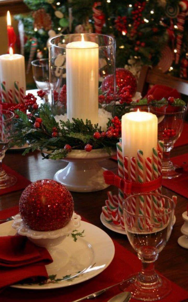 30 Incre Bles Y Elegantes Ideas Para Decorar Tu Mesa Esta Navidad  ~ Bolas Para Decorar Centros De Mesa