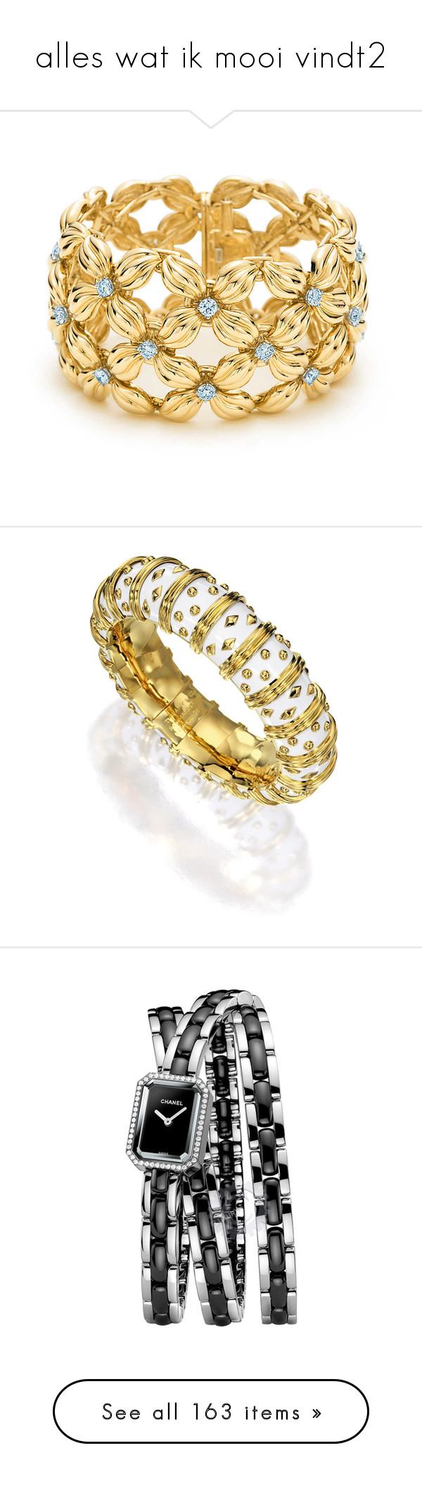 """alles wat ik mooi vindt2"" by bluemoon ❤ liked on Polyvore featuring jewelry, bracelets, accessories, tiffany co jewellery, flower jewellery, daisy jewelry, 18k jewelry, 18 karat gold jewelry, white enamel jewelry and enamel bangle"