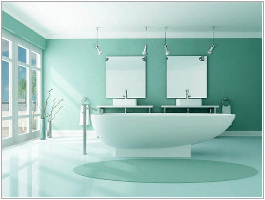 Renew Your Small Bathroom With Modern Decor In Green! | Small ...