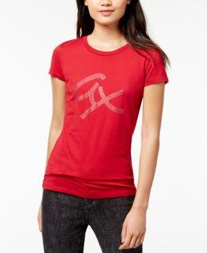 cd09817b3 Armani Exchange Cotton Rhinestone-Graphic T-Shirt - Red XS ...