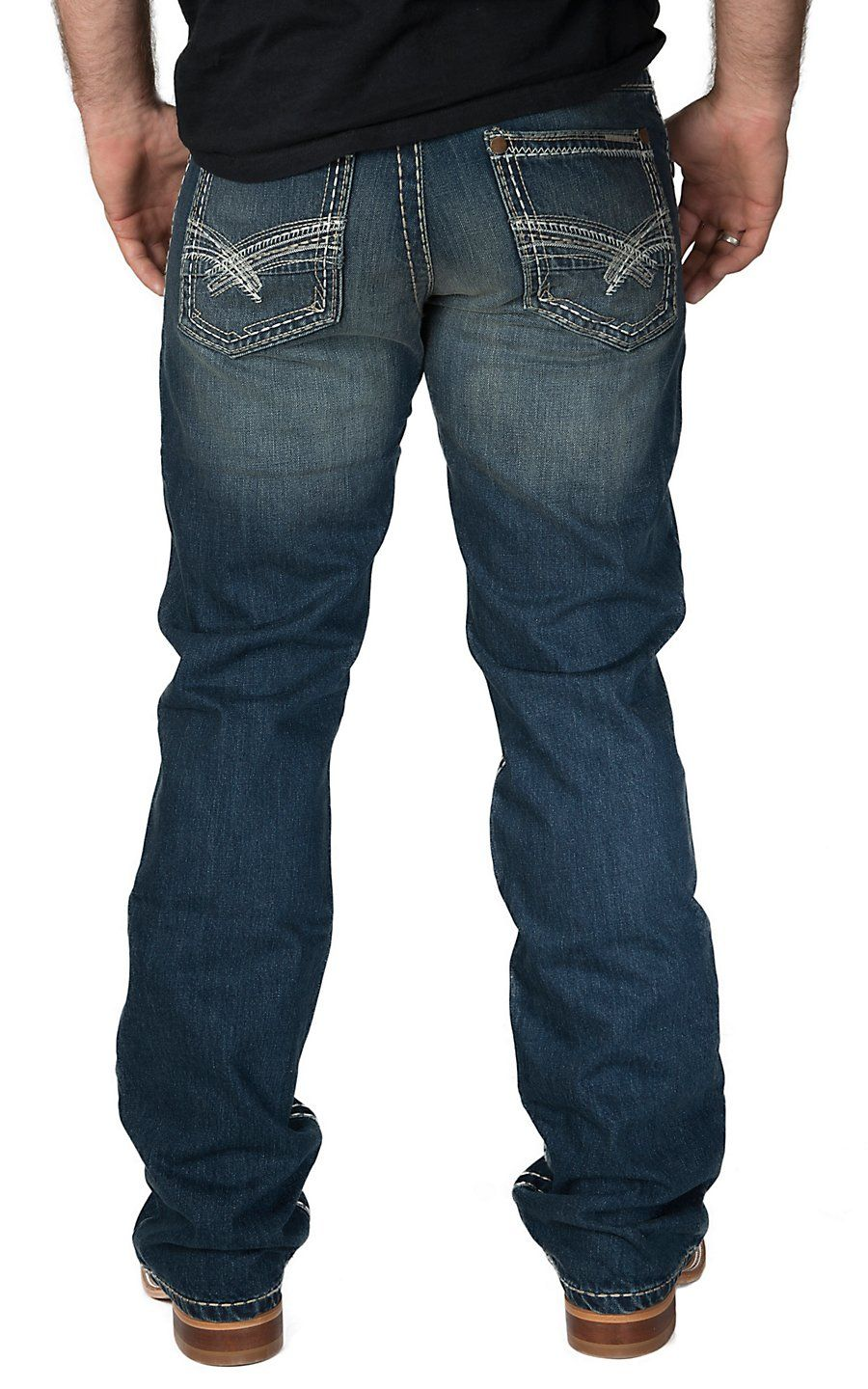 11b519f54c3 Rock 47 by Wrangler Men's Electric Slim Fit Boot Cut Jean | Men's ...
