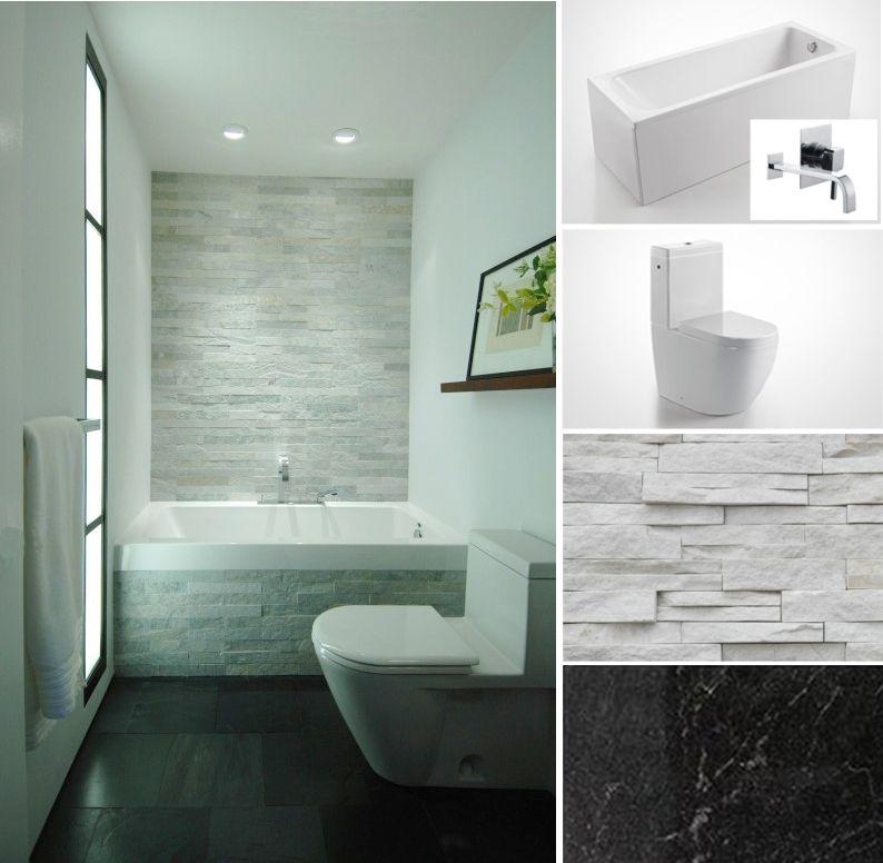 Bathroom Designs with Dark Floors and Stone Walls | Bathroom ...