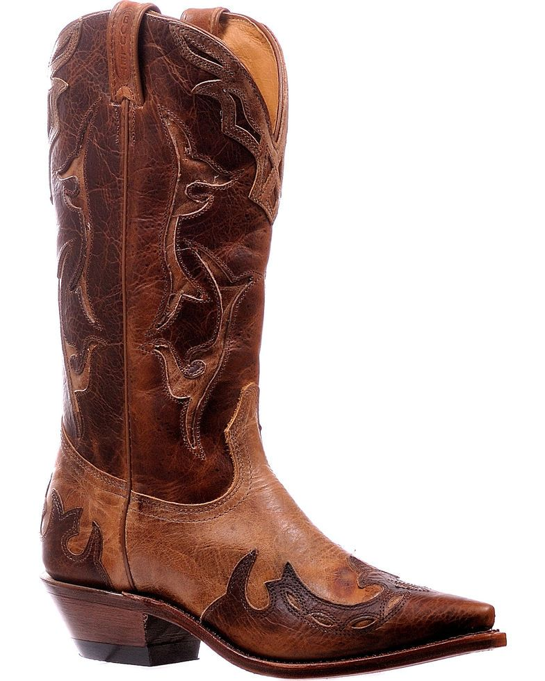 Cognac Damaina Cowgirl Boots