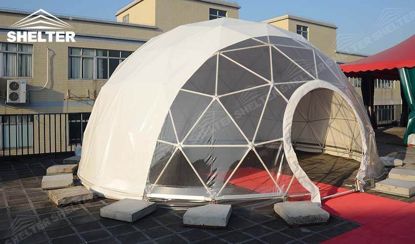 quality design abf57 9a40a half clear transparent geodesic dome -Shelter geodesic dome ...