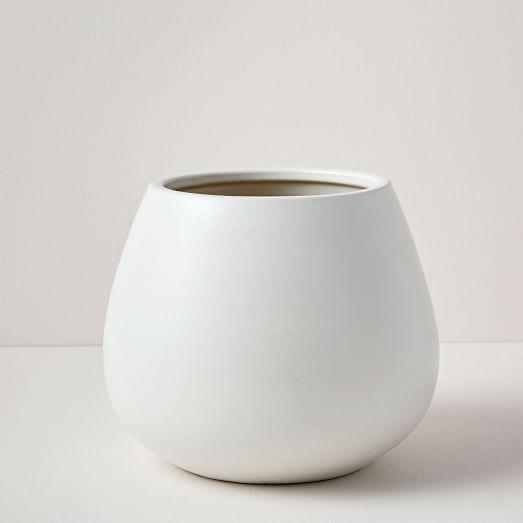 Pure White Ceramic Planter Extra Small White Ceramic 400 x 300