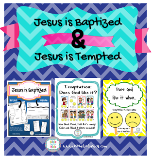 Bible Fun For Kids: Jesus' Baptism & Temptation Preschool Projects