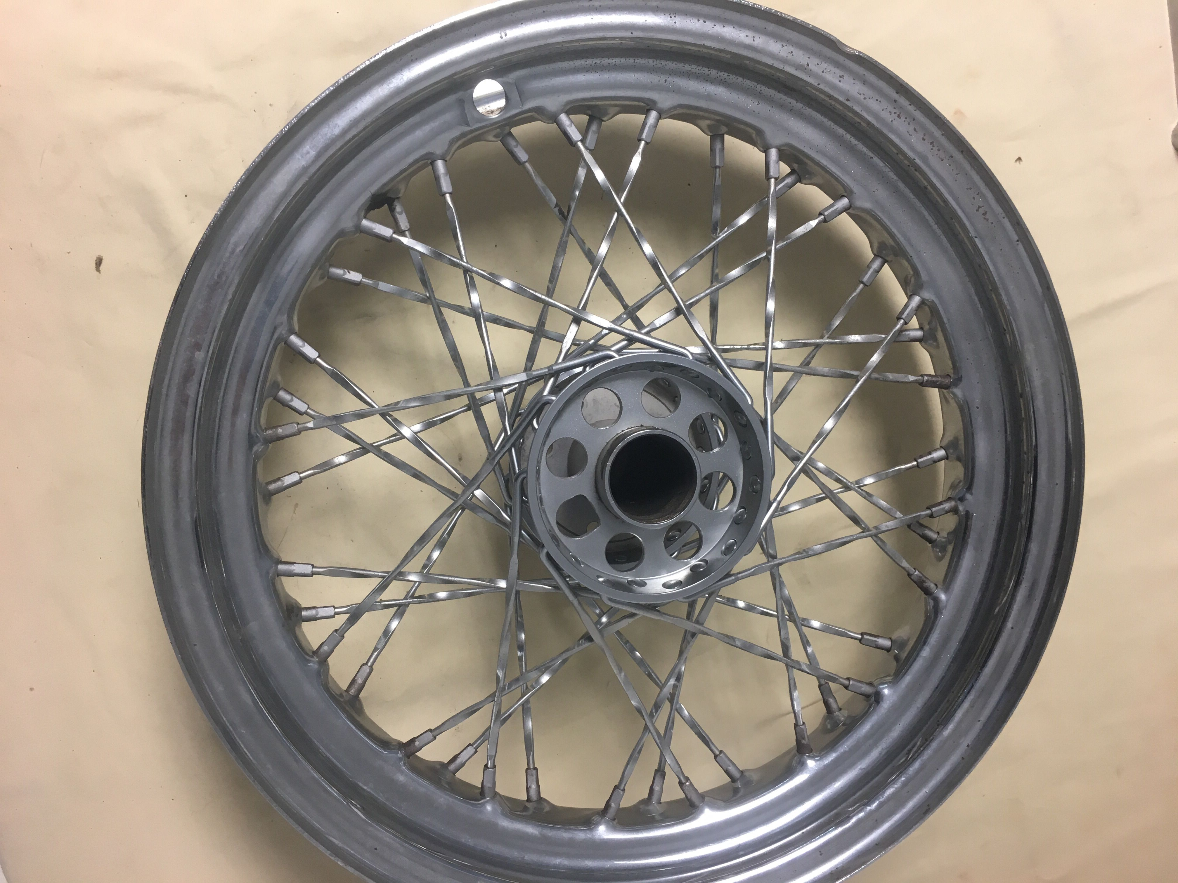 Ironhead rear wheel ( drum brake ) | www OldIronheads com