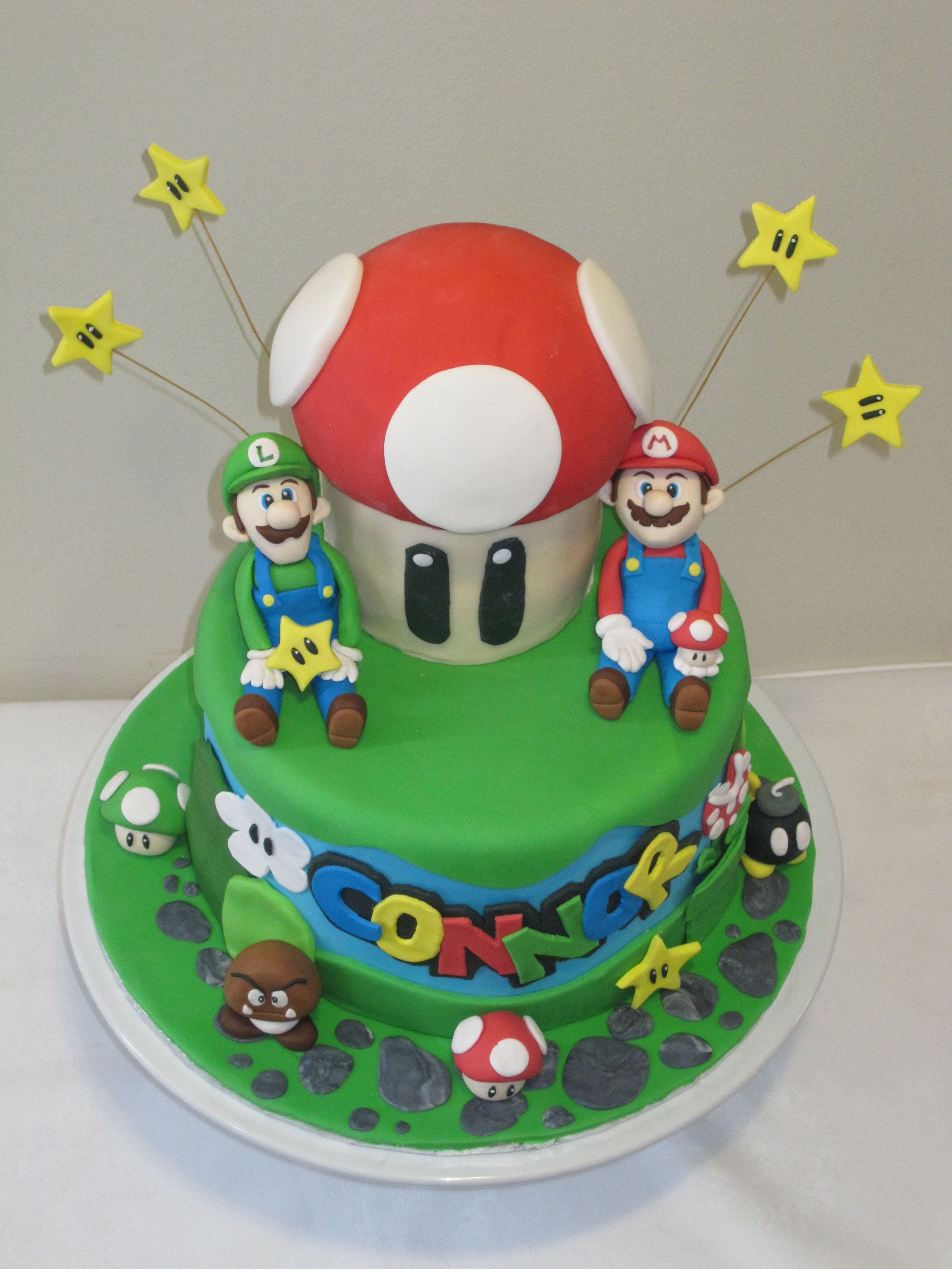 Super Mario Brothers Cake Mario Brothers Mario And Cake - Bowser birthday cake