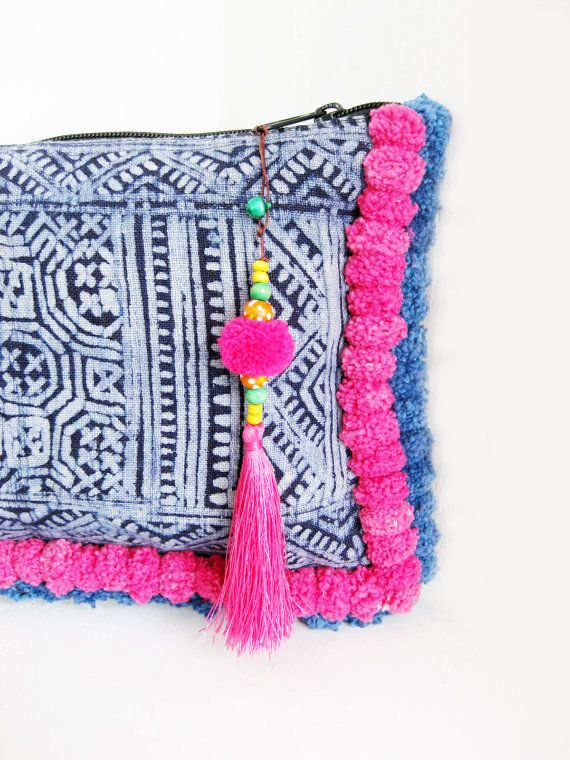 Handmade Pom Pom & Tassel Bag by the HMONG people in Thailand >> via ThaiHandbags on Etsy